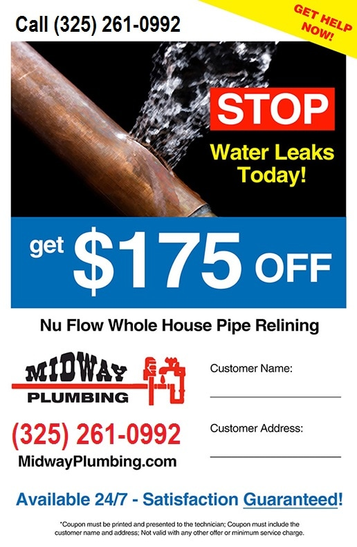 175 Off Nu Flow Whole House Pipe Relining