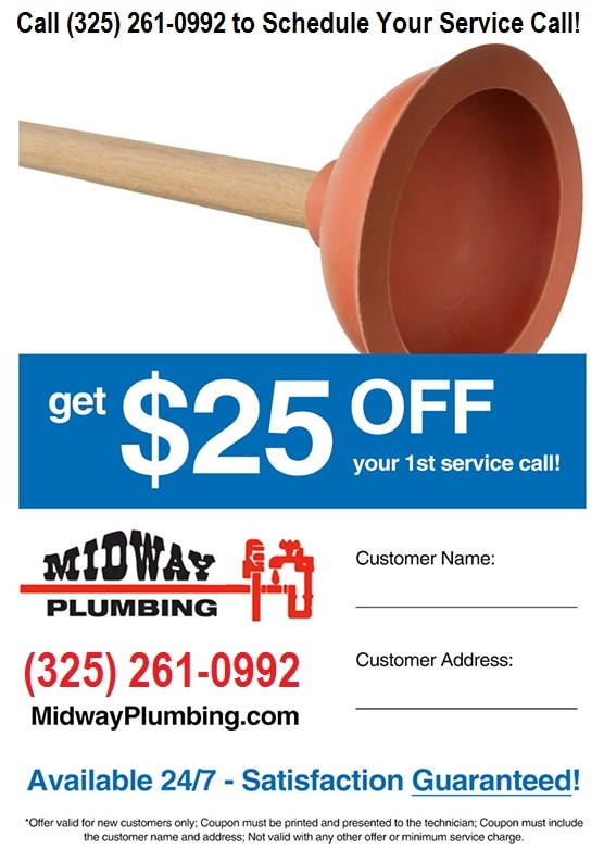 25 Off First Service Call At Midway Plumbing