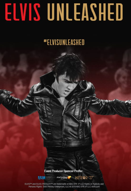 Fathom Events 2020 Schedule Elvis Unleashed   Fathom Events in HD   The Ridgefield Playhouse