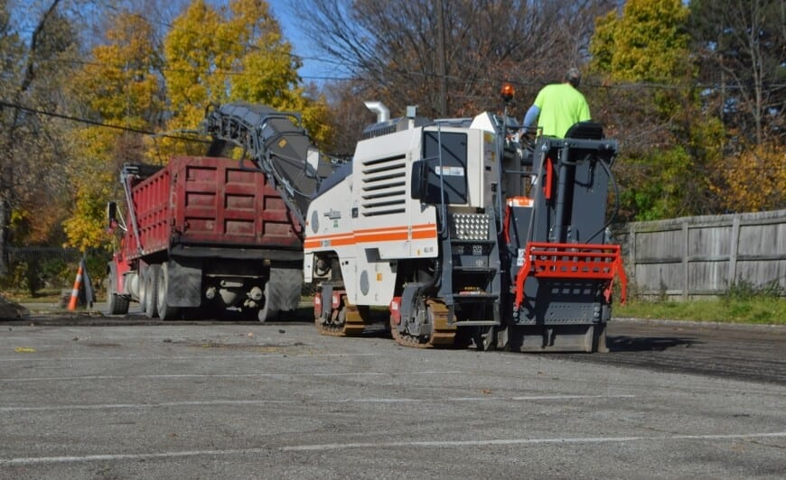 Asphalt milling by Ohio Paving.