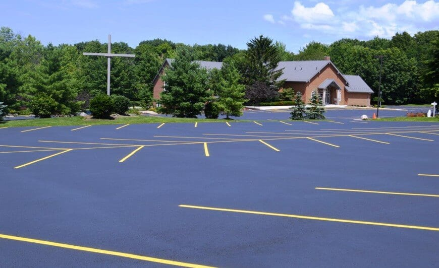 Divine Word Catholic Church's new asphalt parking lot and line striping