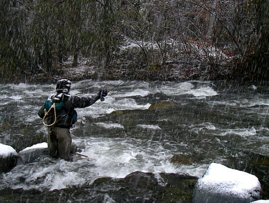 Winter fly fishing: More fun than it looks