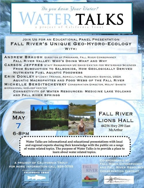 Fall River Water Talks flyer May 7