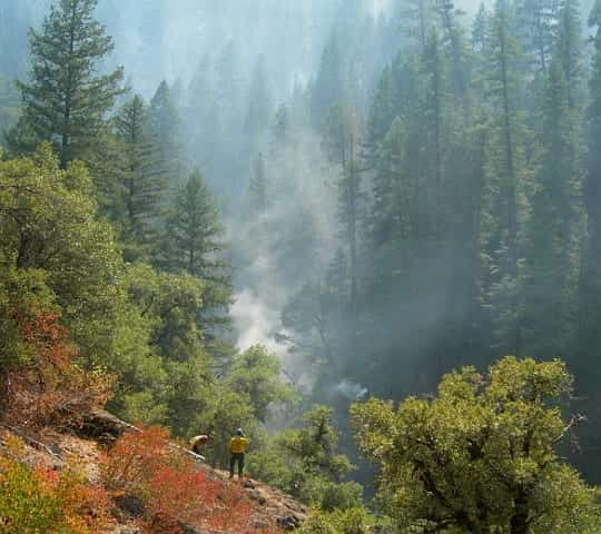 McCloud River Canyon during the Bagley Fire