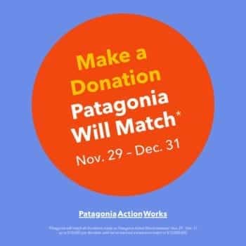 Patagonia Action Works Matching Donations