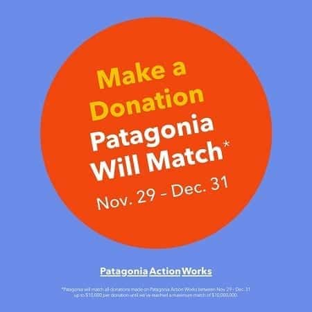 Patagonia Action Networks matching donations