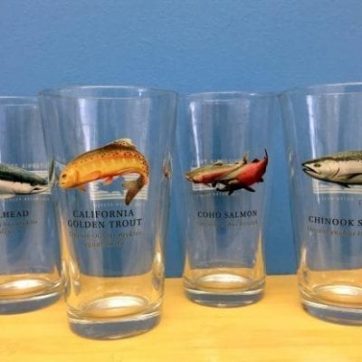CalTrout pint glass set of 4