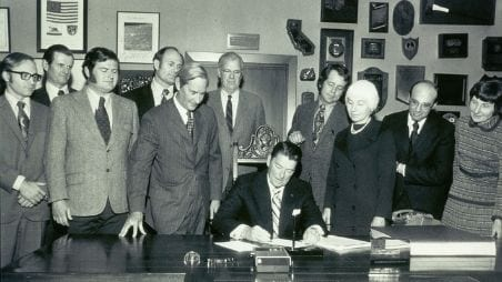 Gov Reagan signs the California Wild & Scenic Rivers Act